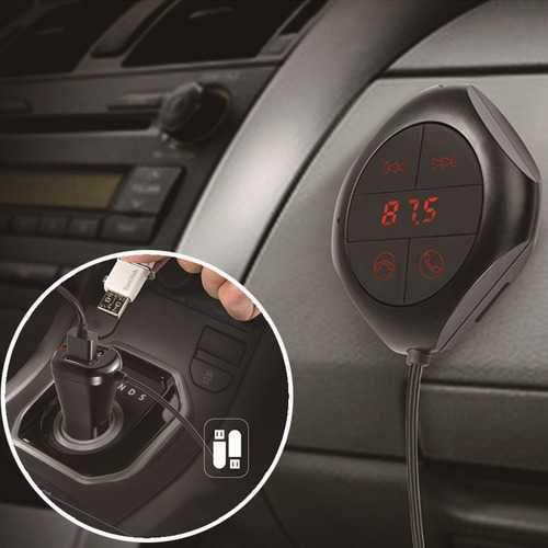 FM Transmitter LED Display USB Port bluetooth Stereo Music Play MP3/WMA/WAV/FLV Car Charger
