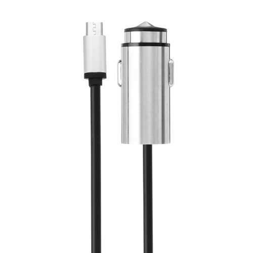 Bakeey 3.4A Metal USB Fast Car Charger With Type C Micro USB Cable For Mobile Phone Camera Tablet