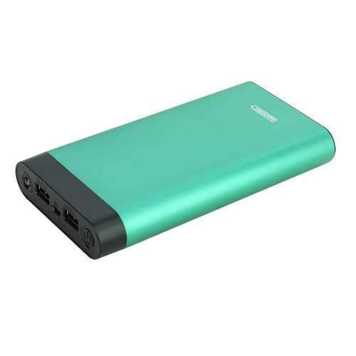 InstaCHARGE 16000mAh Dual USB Power Bank Portable Battery Charger - Teal EL-16K