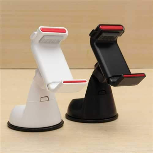 3 in 1 Clip-on Strong Sucker Car Wind Shield Dashboard Phone Holder Stand for iPhone 8 X Cell Phone