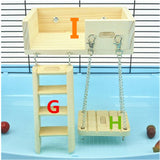 New Hamster Wooden Toy Set Tube Tunnel Cage Seesaw House rainbow swing Small Animals Pets Play Toys for Rat Mouse Mice Hamsters
