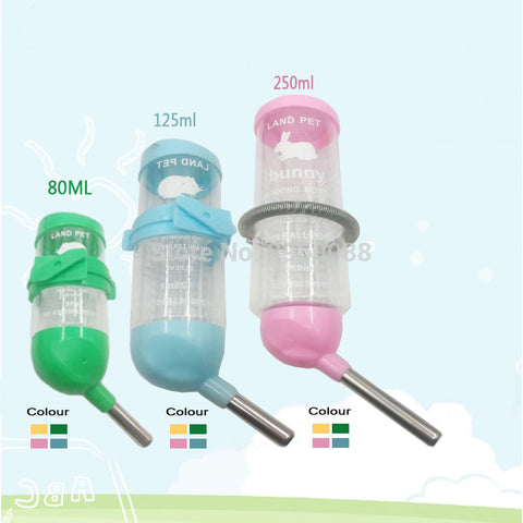 Small Pet Hamster Drinking Fountain Leak Proof Water Bottle Rabbit Automatic Kettle Device Guinea Pig Water Feeding Device