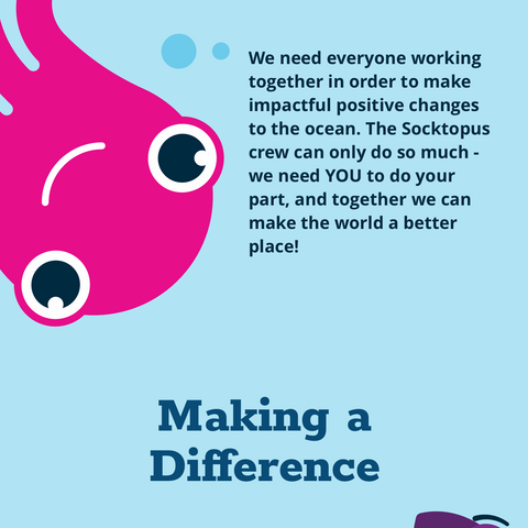 Socktopus Ink - making a difference