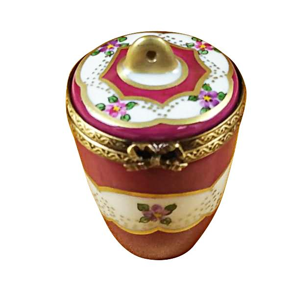 BURGUNDY URN WITH GOLD HANDLE