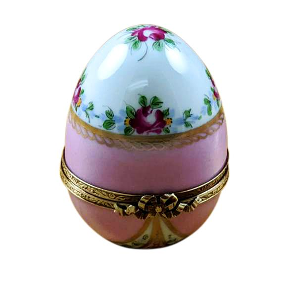 PINK EGG W/ FLOWERS