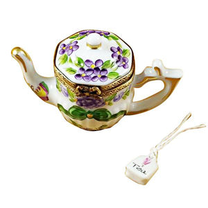 "TEAPOT ""BUTTERFLY"" W/ REMOVABLE TEA BAG"