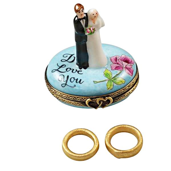 BRIDE AND GROOM WITH 2 REMOVABLE RINGS