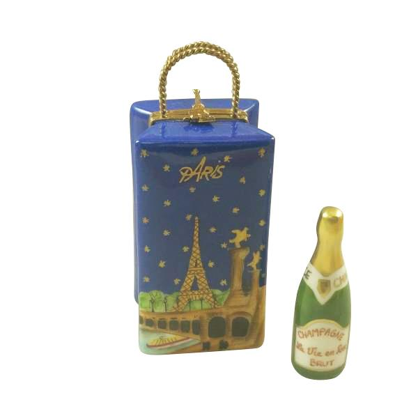PARIS BY NIGHT GIFT BAG WITH CHAMPAGNE BOTTLE