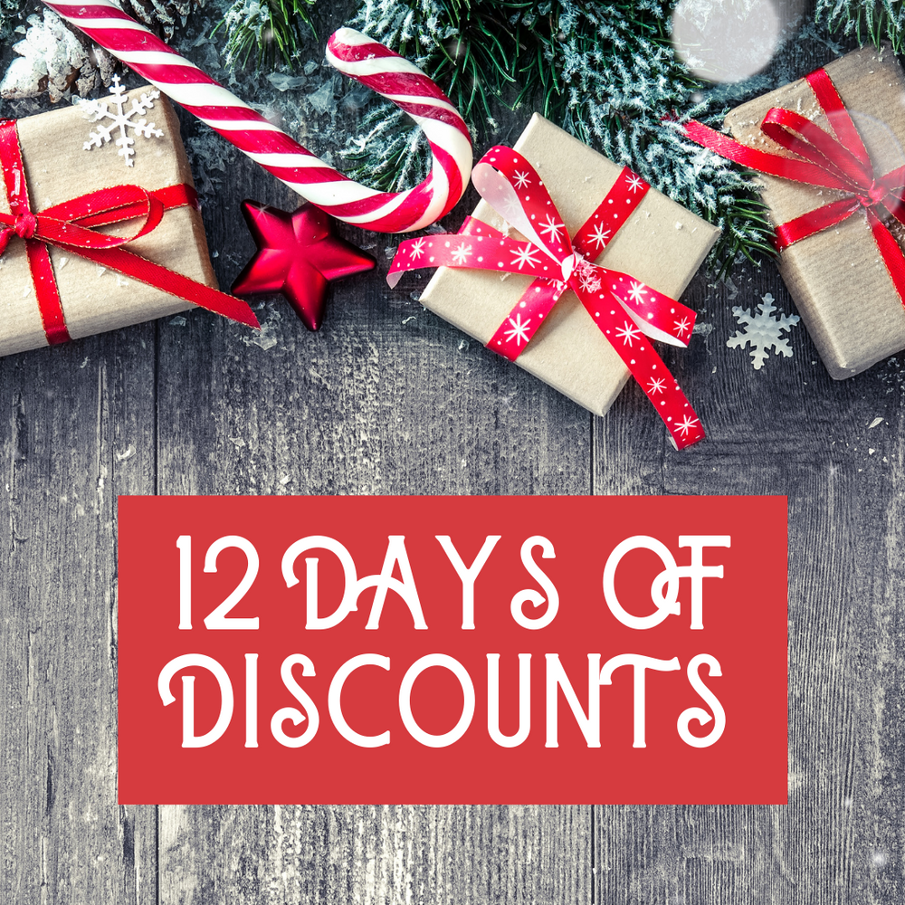 12 Days of Discounts is Here! Happy Holidays.