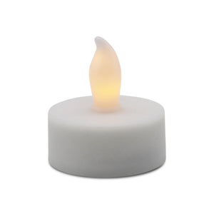 Matchless Candle LED Basics Tealight Candle, Flat Edge, Unscented, Ivory (4-Pack) - Flicker and Glow