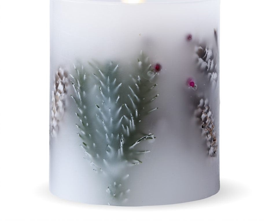 Matchless Candle Co Push Button Fir Berry Pillar Candle