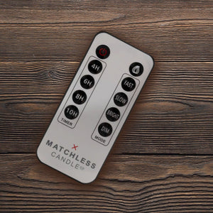 Matchless Candle Remote Control, Multi-features, Pre-set Timer, Brightness, Flame Speed, Dim, Universal - Flicker and Glow