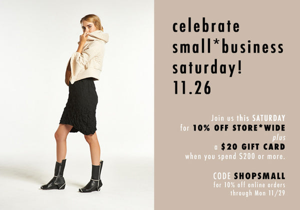 11/26 | Small Business Saturday!