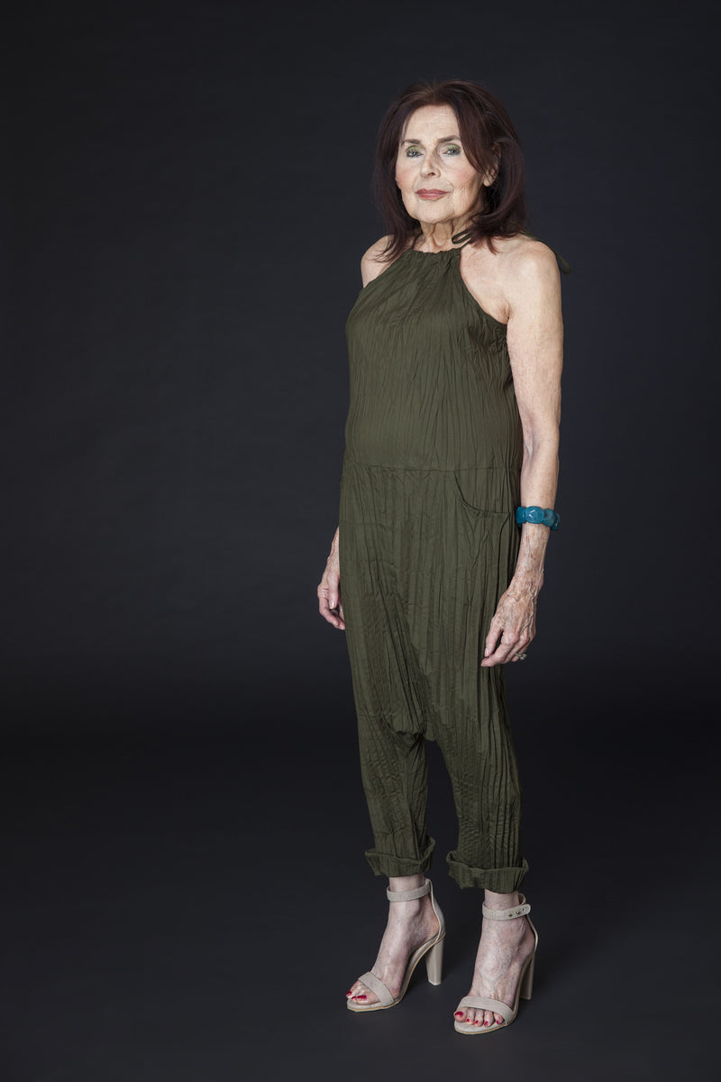 Twisted Berlin Jumpsuit in Olive