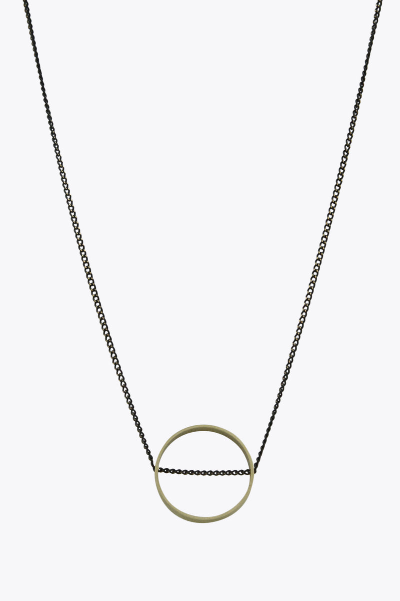 2-Tone Intersected Circle Necklace