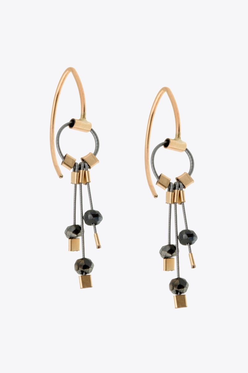 Aerial Hooks Earrings in Spinel/Gunmetal