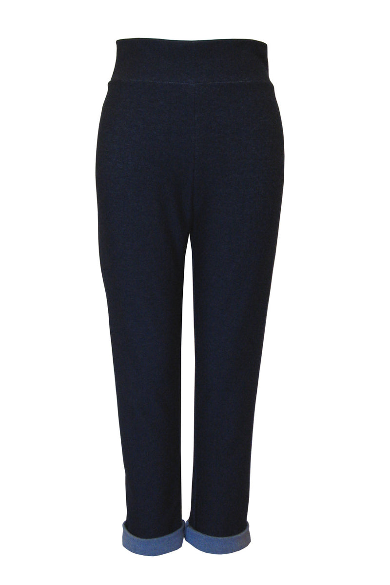 Boyfriend Legging in Organic Blue Denim