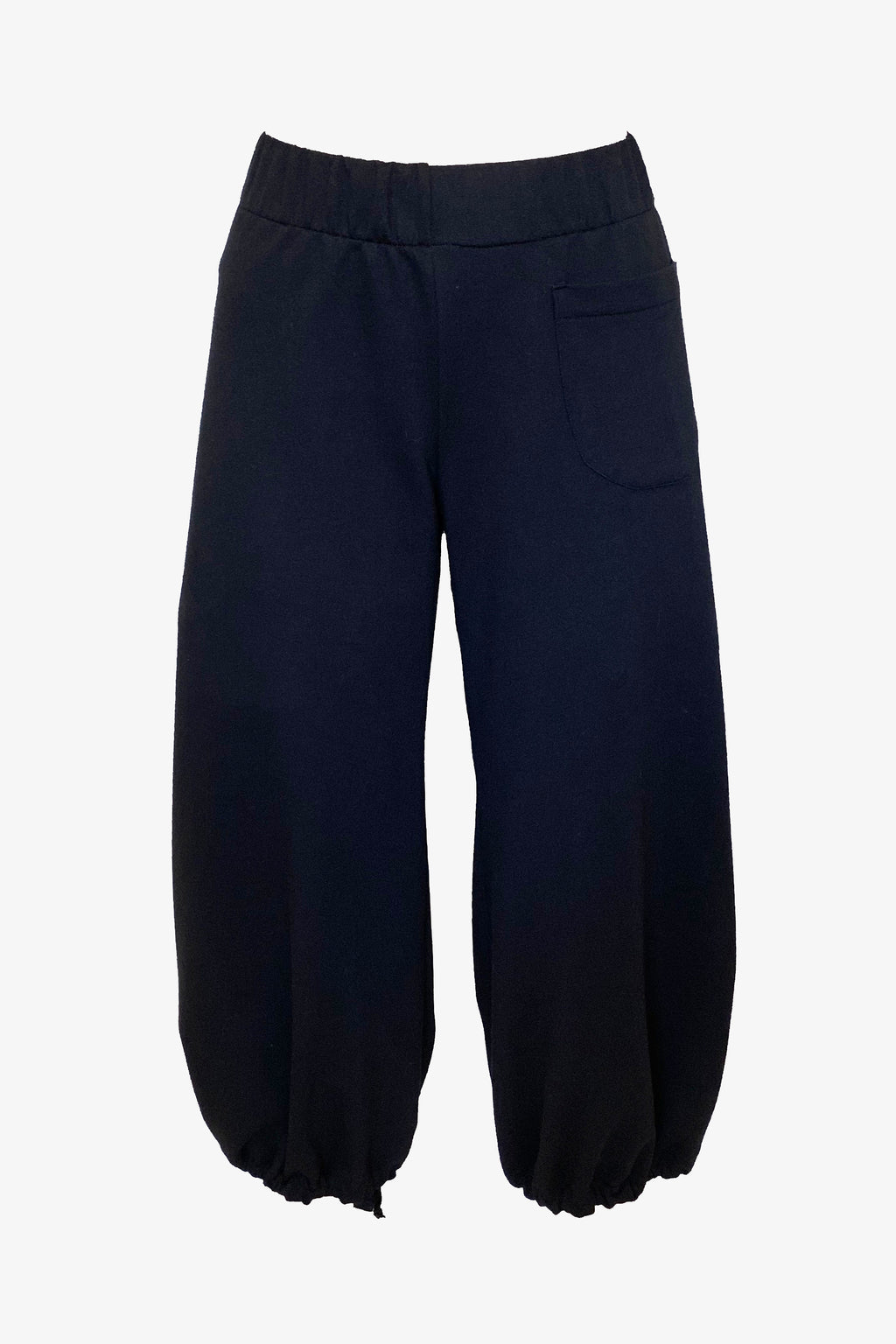 Boba Pants in Black Organic French Terry