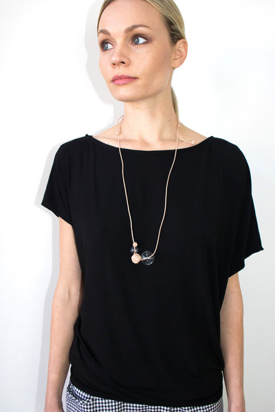 Andy Tunic in Black Bamboo