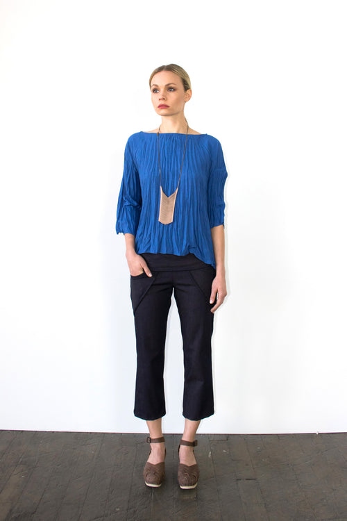 Twisted Square Top in Royal