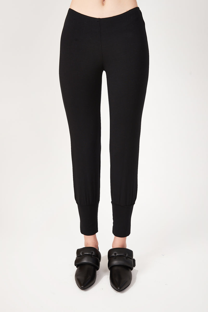 Black Bamboo Jersey leggings