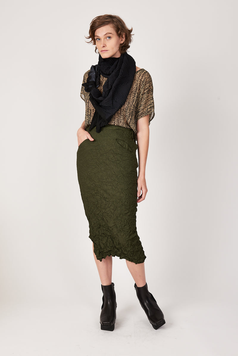 Olive Convertible Pencil Skirt