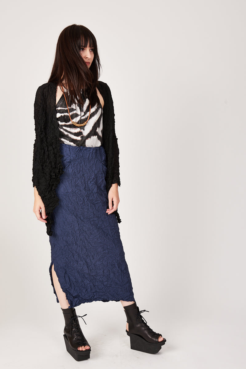 Moth Convertible Column Skirt in Navy