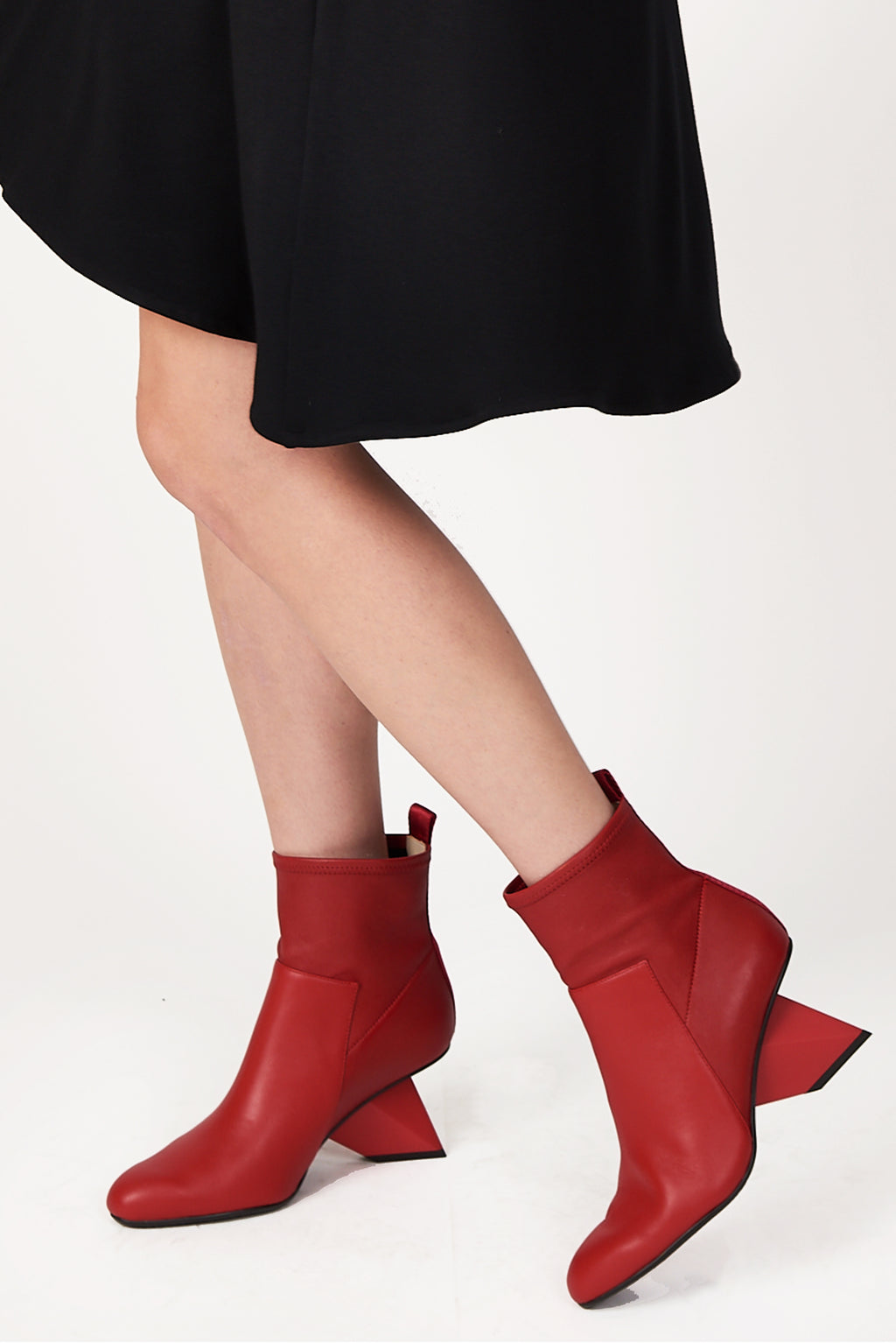 United Nude Rockit Pure Bootie in Deep Red