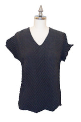Chevron T-Shirt in Charcoal