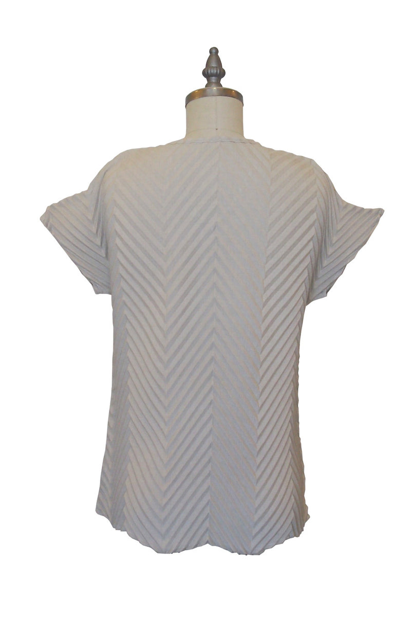 Chevron T-Shirt in Stone