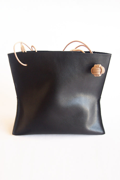 (k)not Tote in Black/Veg Tan