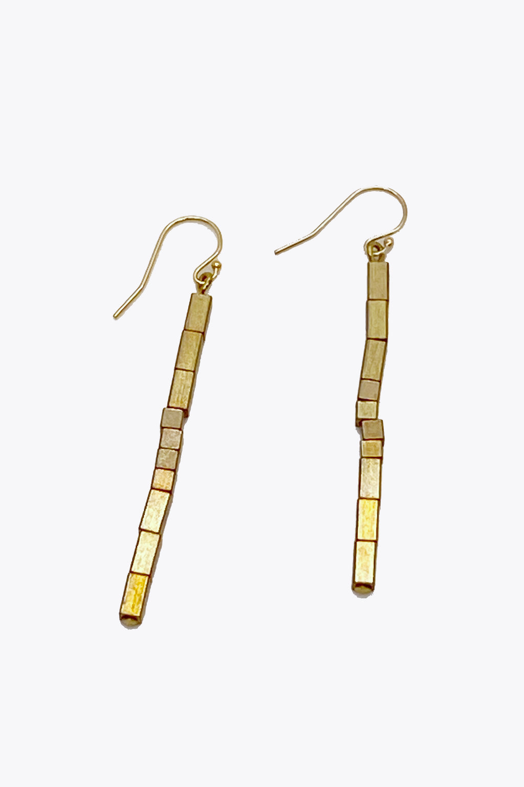 Deco Brass Earrings