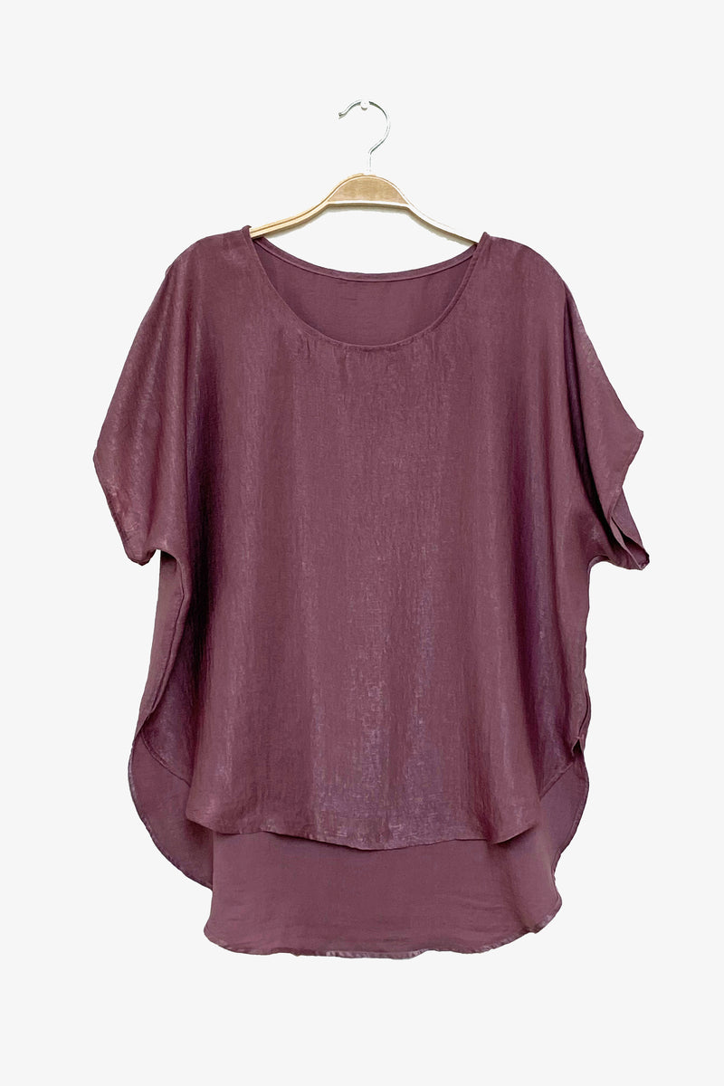 Easy Tee in Lavender Rose Shimmer