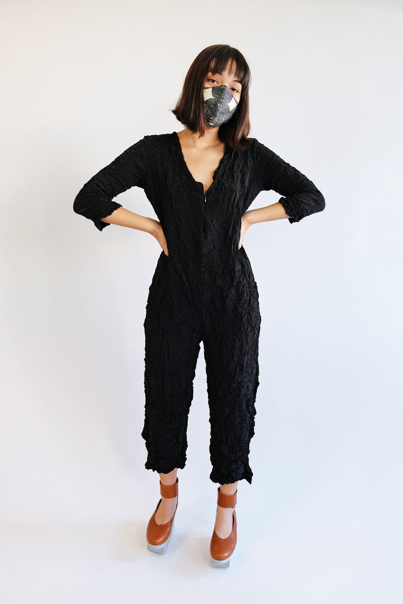 Moth Boiler Suit in Silky Black