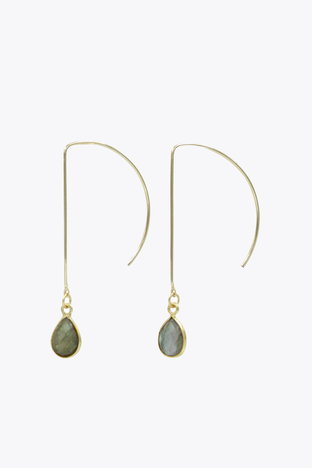 Labradorite Half Hoop Earrings