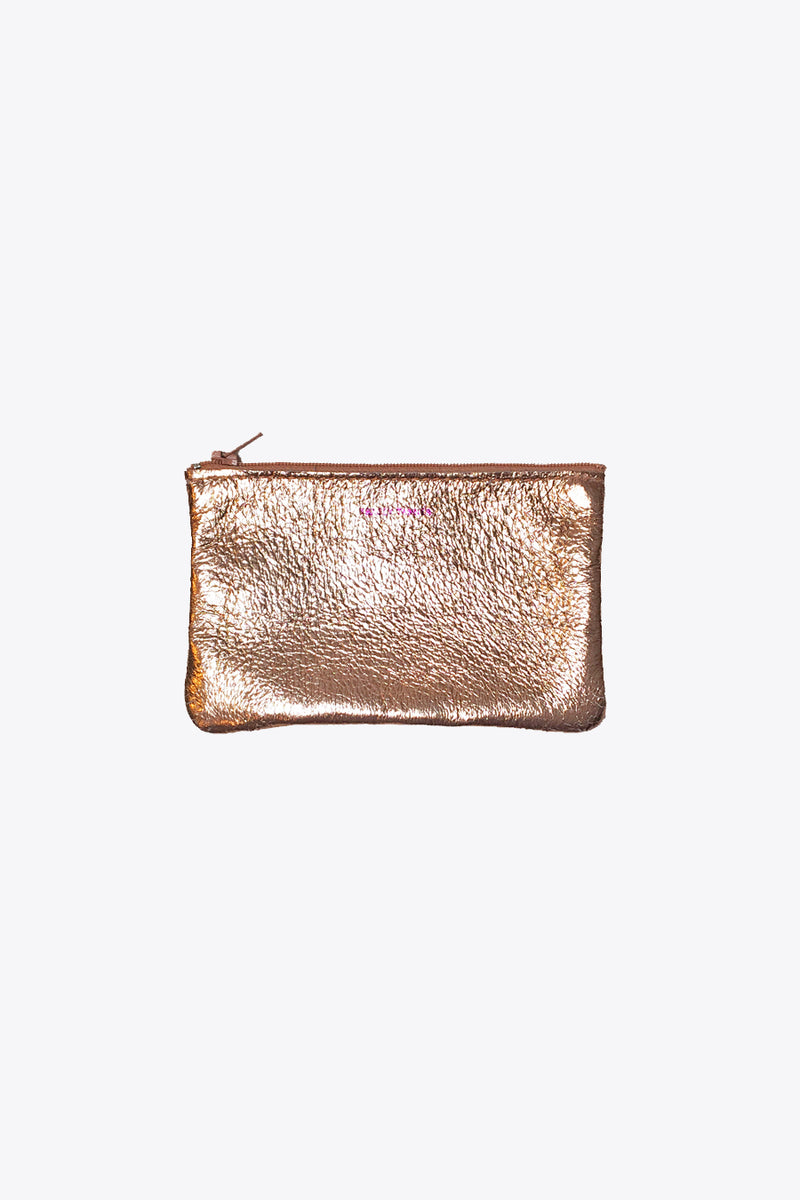 Leather Pouches in Rose Gold