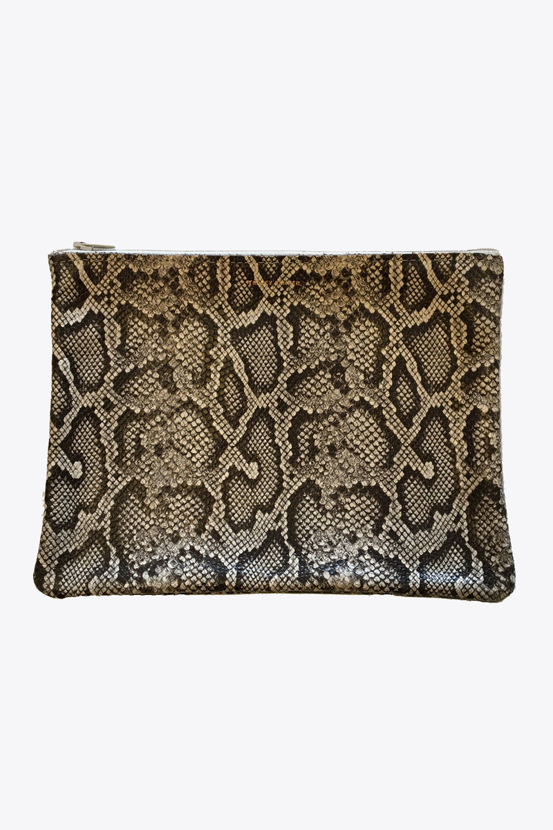 Leather Pouches in Faux Snakeskin