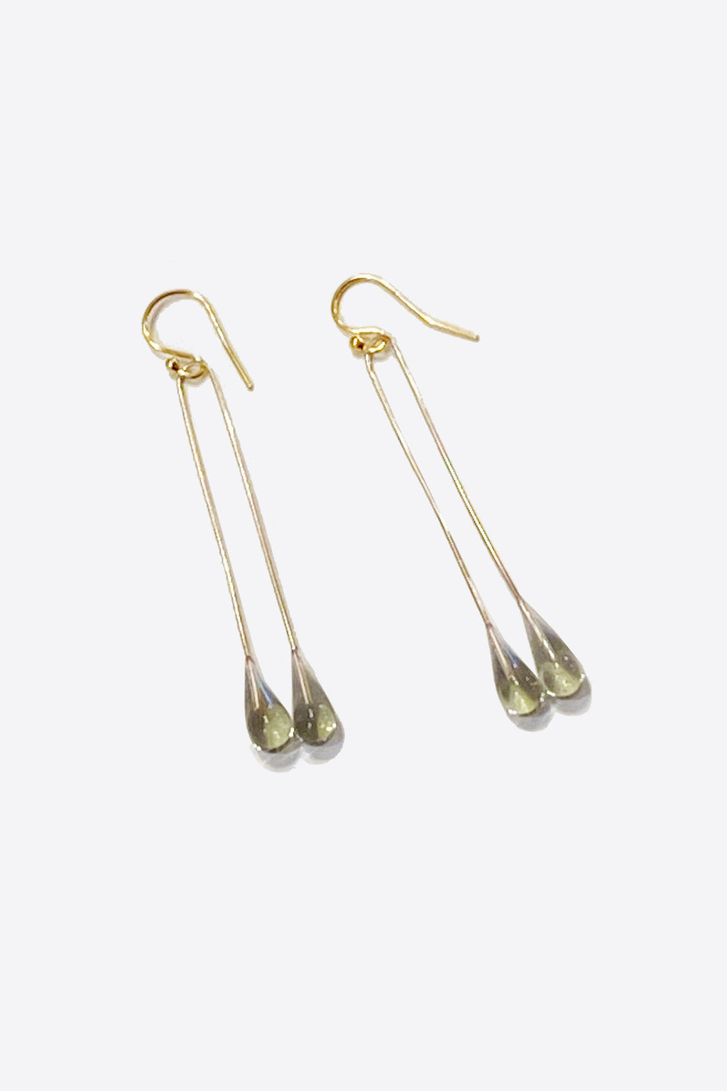 Lustre Long Single Earring in Smoke