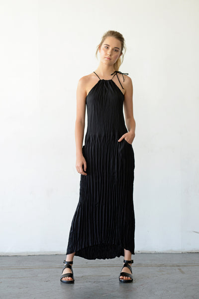 Twisted Maxi Halter Dress