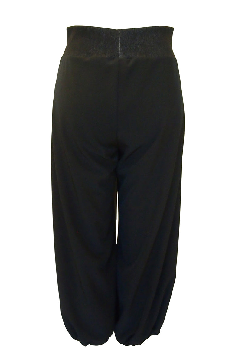 Convertible Culottes in Black Techno Stretch