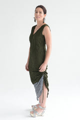 Moth Chrysalis Dress in Titanium/Dark Grey