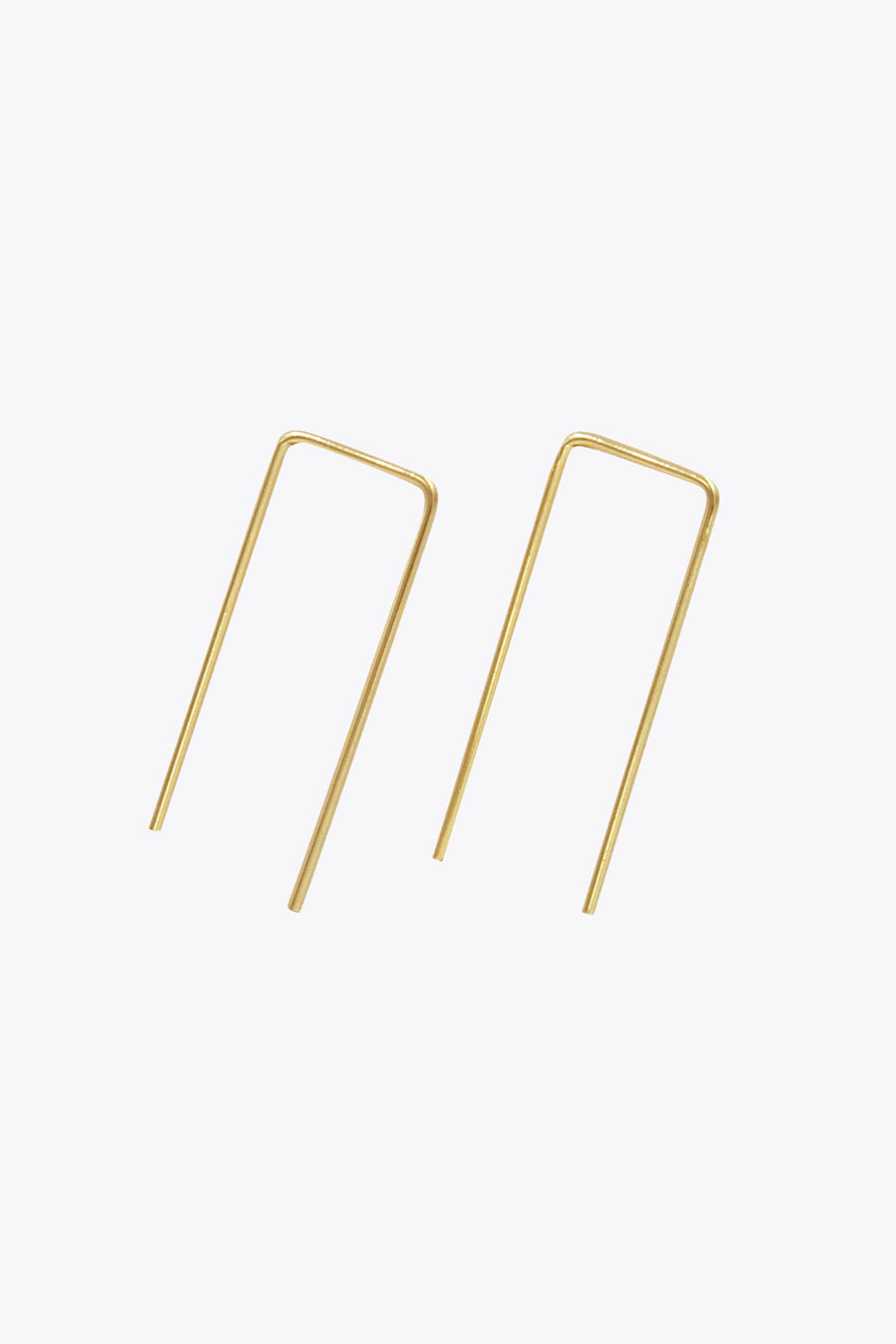 Rectangle Feed-Through Earrings