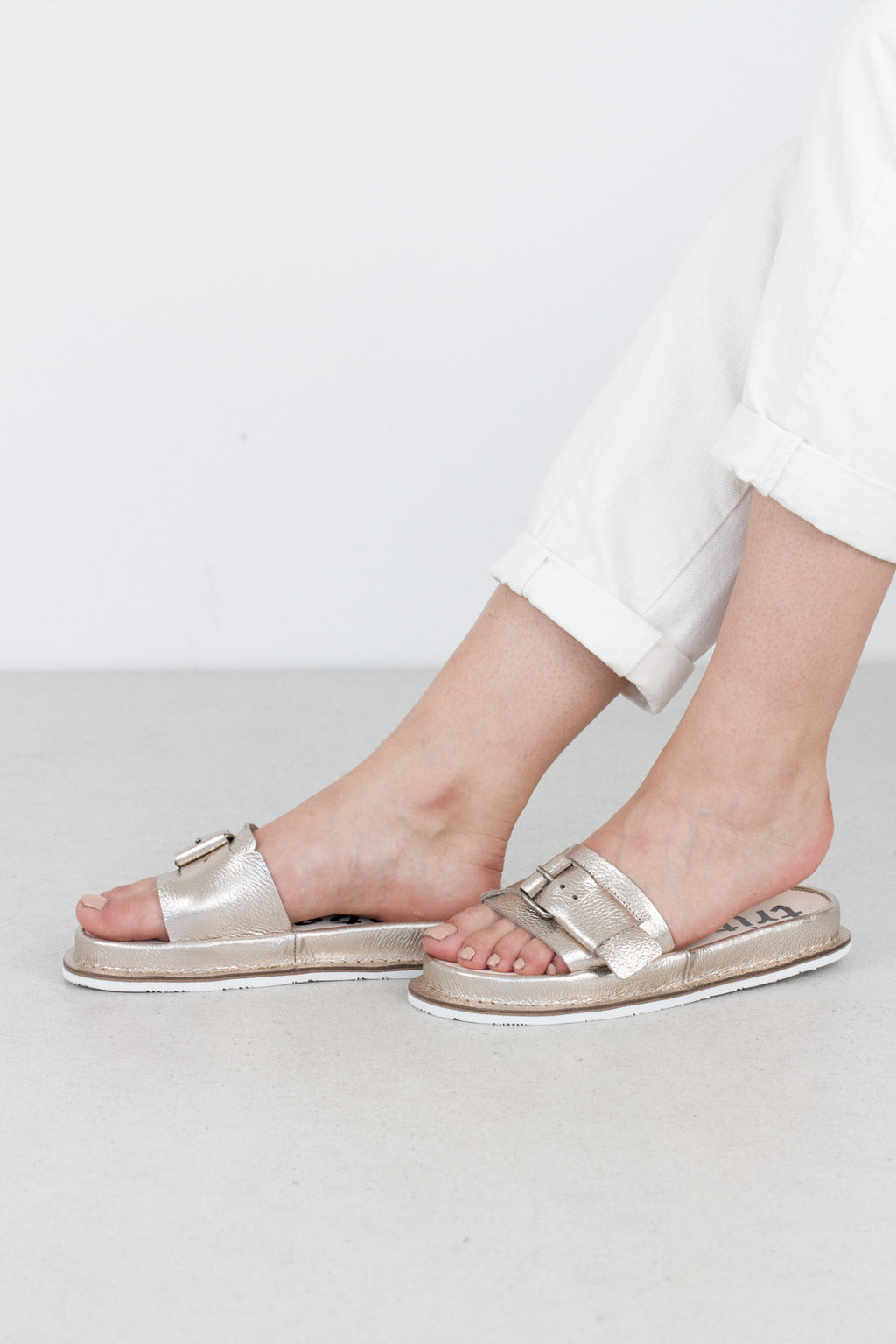 Trippen Rescue Sandal in Metallic Perla
