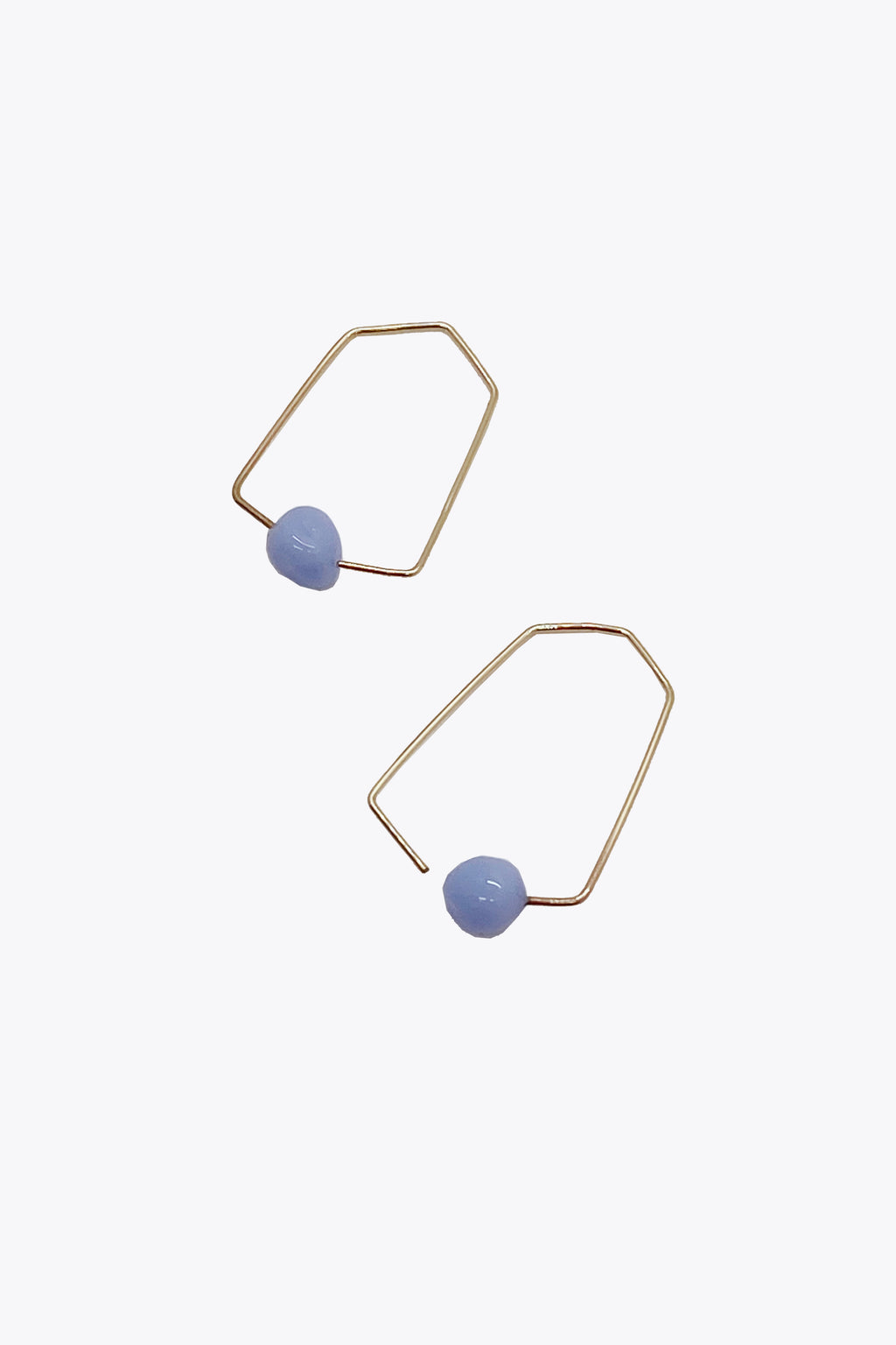 Small Hexagon Earrings in Periwinkle