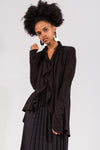 Black Circle Cardigan in Bamboo Viscose