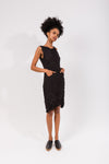 Moth Cowl Dress in Black