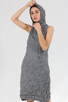 Moth Hoodie Dress in Poplin