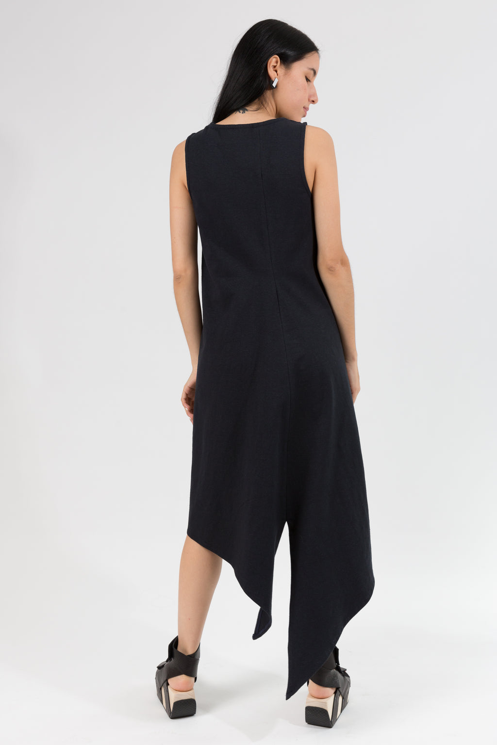 Trapezoid Dress in Hemp Organic Cotton