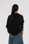 Sheer Moth Pebble Poncho in Black
