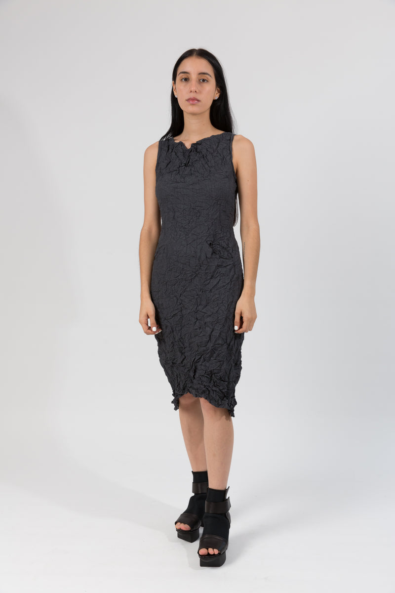Moth Cowl Dress in Charcoal